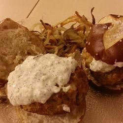 Greek Chicken Burgers with Feta made these for dinner tonight and they were a hit a definite keeper