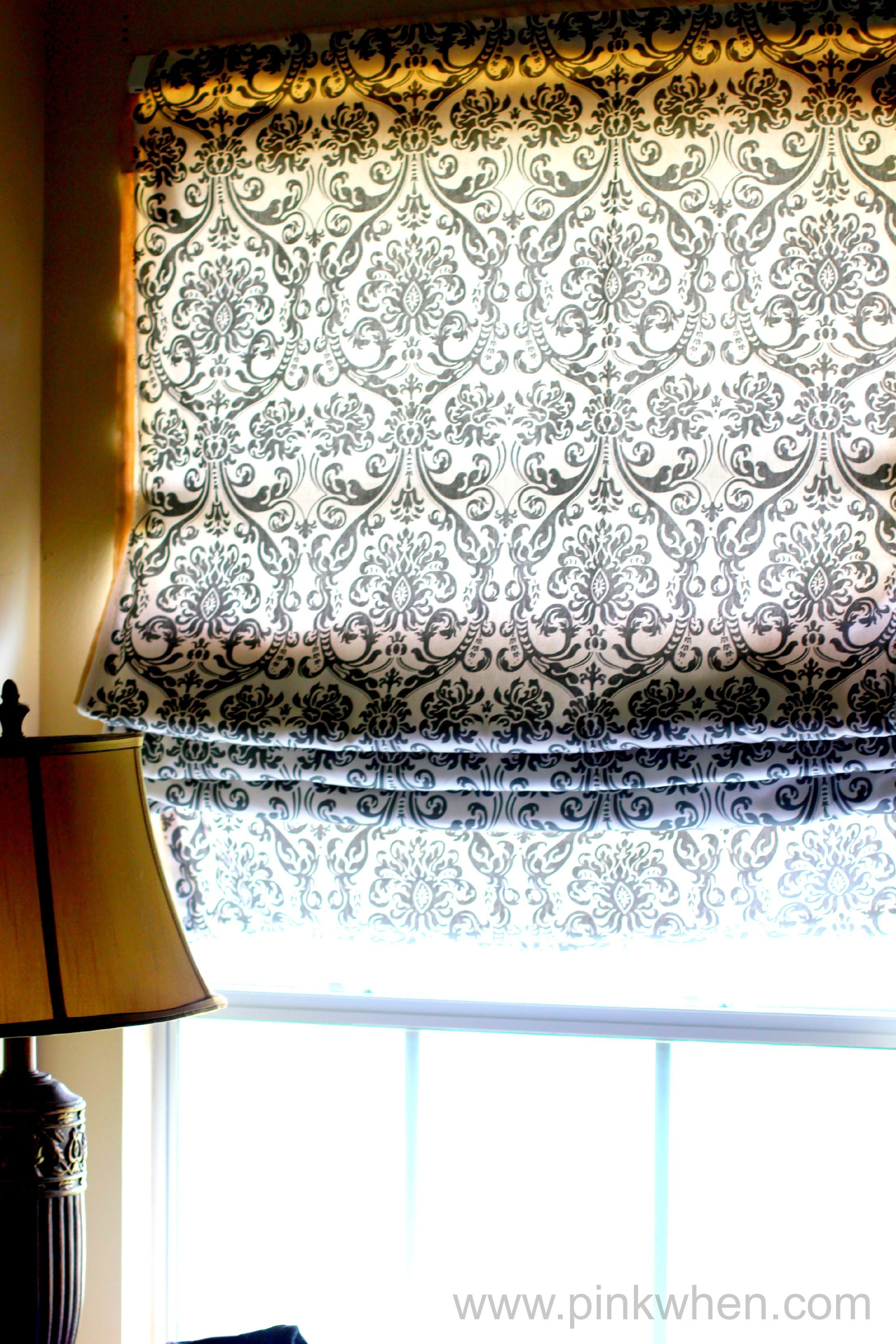 Super Simple No Sew Roman Shade Tutorial with a 5 minute step by ...