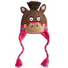 Keep her ears warm in this Joules Junior Amie Horse Hat! #Joules