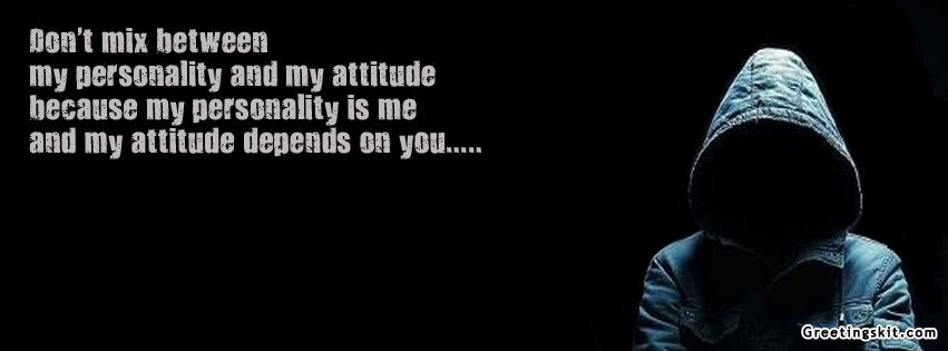 Personality and Attitude Quote FB Cover Facebook cover
