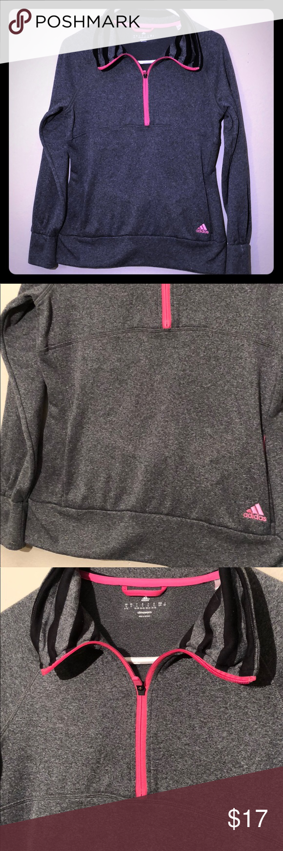 Adidas Gray Climawarm Pull on Sweater Sweater Gray Climawarm Small | f1cb82a - hvorvikankobe.website