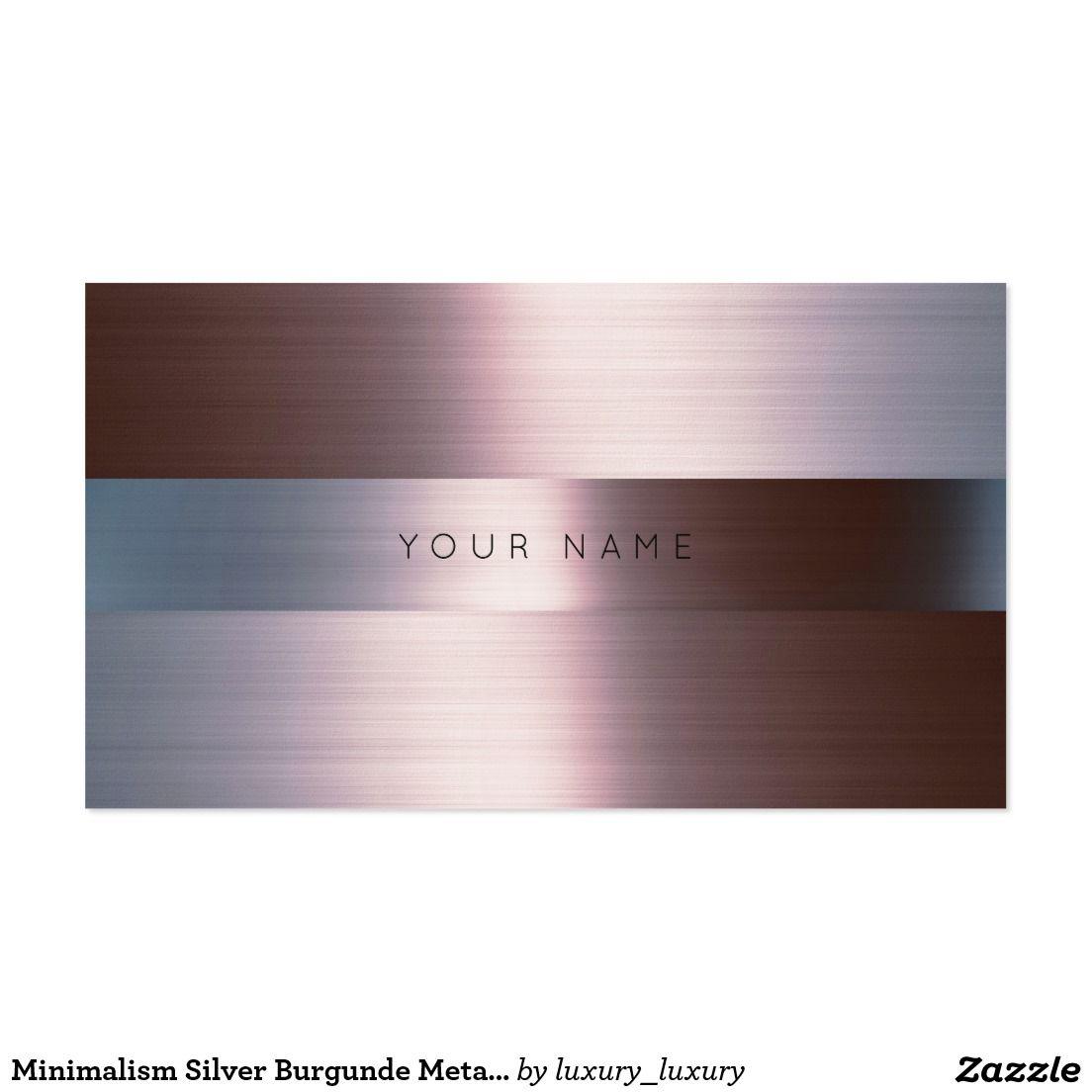Minimalism Silver Burgunde Metallic Gray Vip Pack Of Standard ...