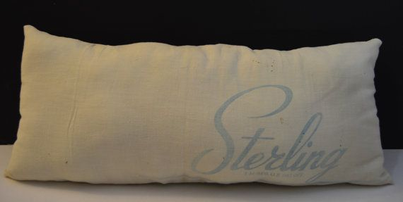Vintage Salt Sack Decorative Pillow by TGALCOLLECTIBLES on Etsy