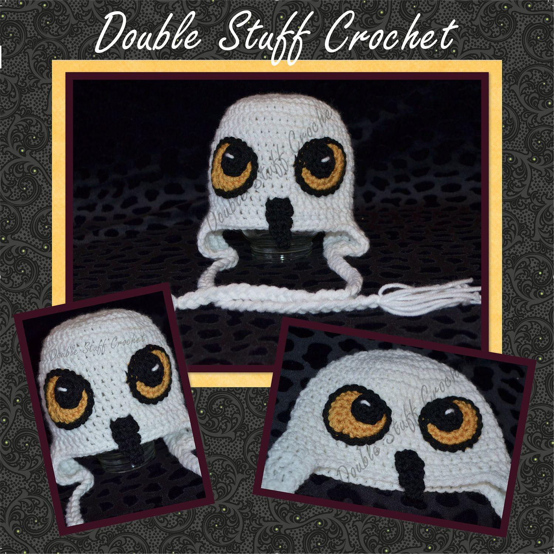 Hedwig :-) Snow Owl Earflap Hat PATTERN. $3.99, via Etsy.   Crochet ...
