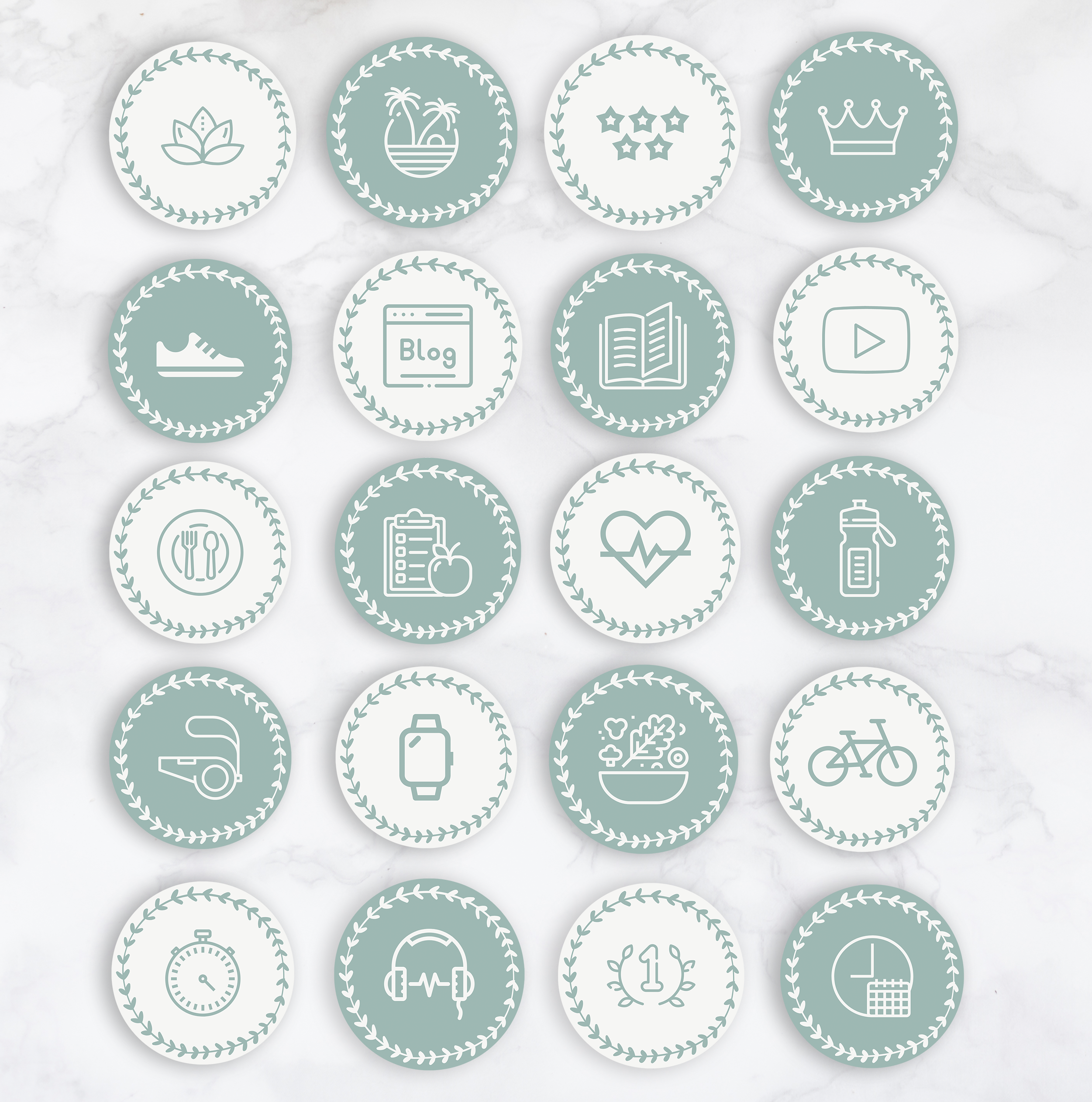 Wellness Instagram Highlight Icons Instagram Story Cover Health Coach Instagram Stories Canva Social Media Icon Template Self Care Instagram Highlight Icons Instagram Story Instagram Icons