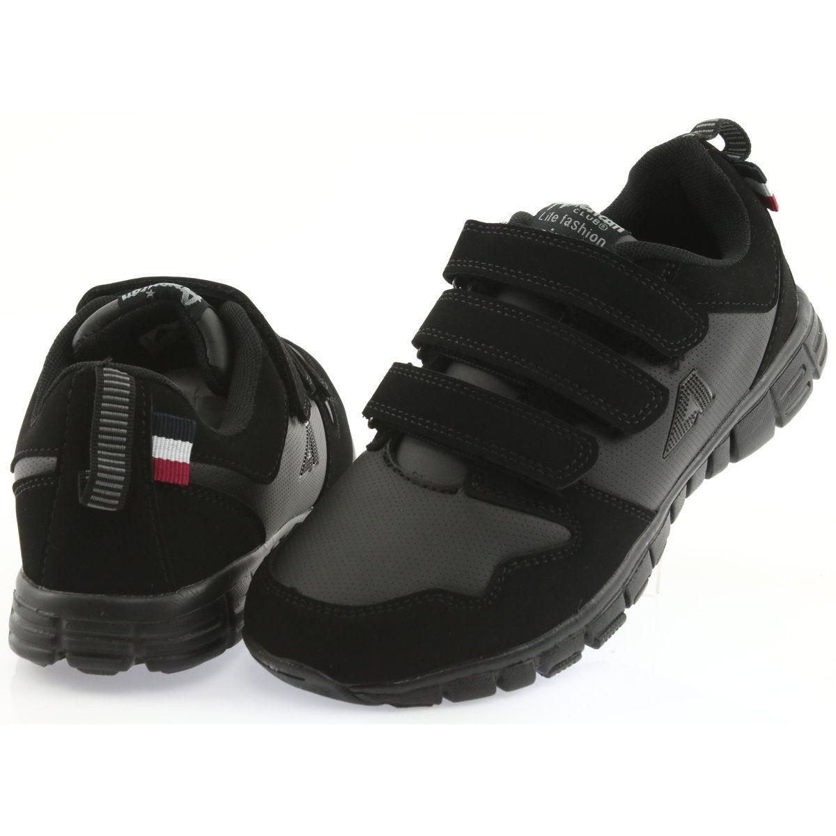 Sportowe Damskie Americanclub Buty Sportowe Na Rzepy American Club Fh16 Czarne Baby Shoes Shoes Fashion