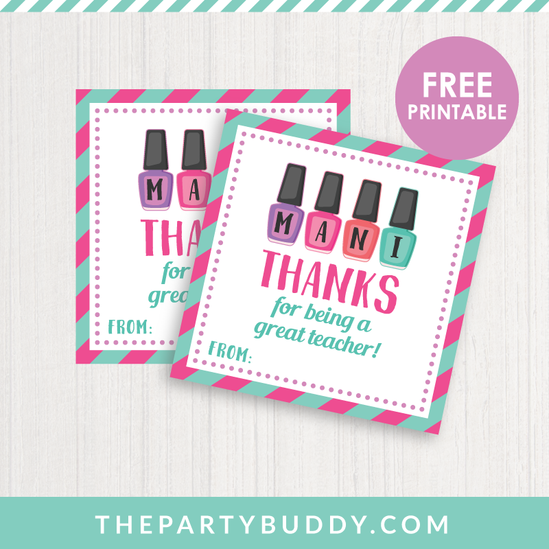 image relating to Mani Thanks Free Printable identified as Mani Due Instructor Appreciation Like Tag Printable Craft