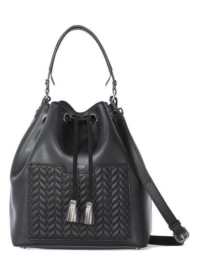 824f786a39 E-shop Sac Saxo Cuir Matelassé Épis Noir Maje pour femme sur Place des  tendances Groupe Printemps. Retrouvez toute la collection Maje pour femme.