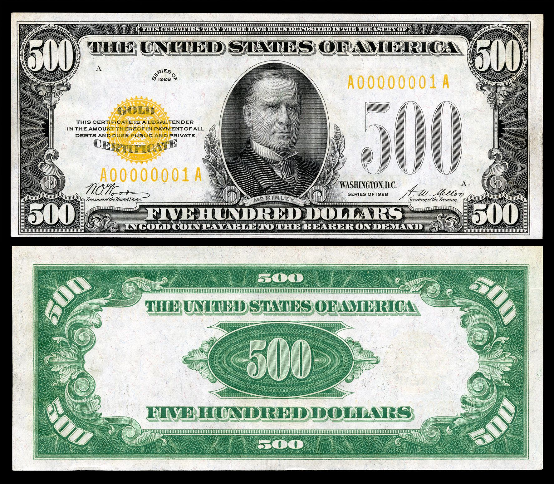 US Currency Paper Money Bill Protector Slab Holder for Large Older Bills... 1