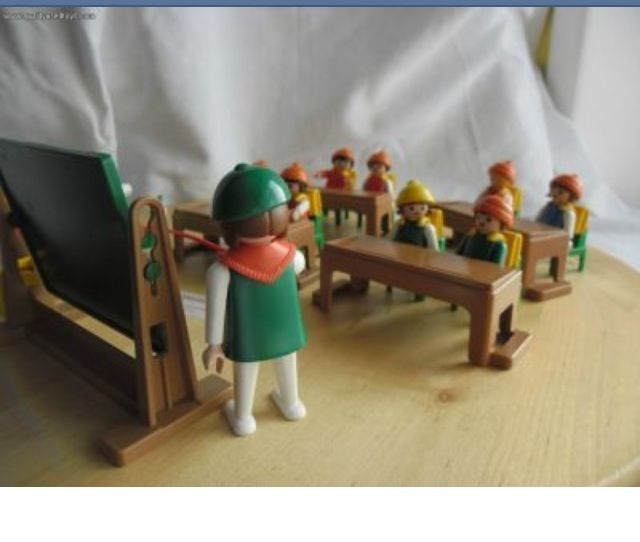 Playmobil schoolroom with teacher and children   I ️ the ...