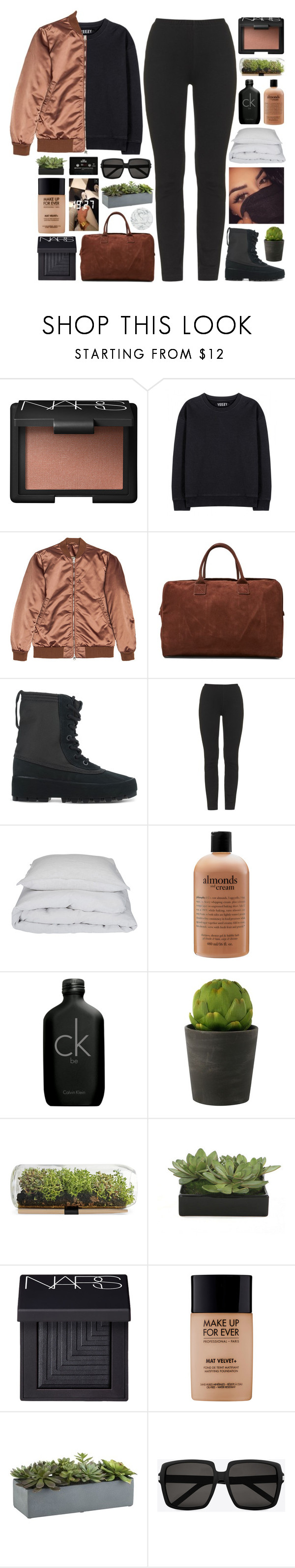 """""""your love is fading."""" by annamari-a ❤ liked on Polyvore featuring NARS Cosmetics, adidas Originals, Acne Studios, adidas, By Nord, philosophy, Calvin Klein, Linea, Lux-Art Silks and MAKE UP FOR EVER"""