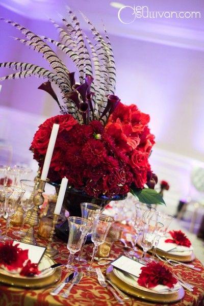ideas decoración boda en rojo índigo Bodas y Eventos www