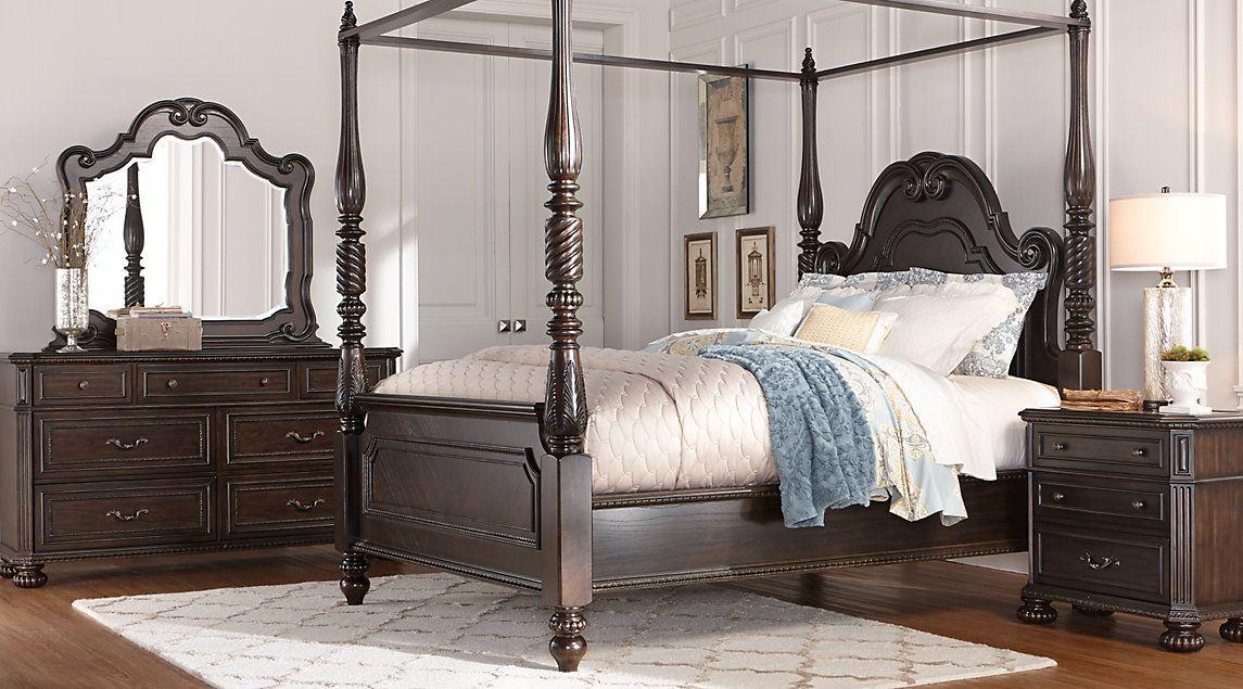 Dark Wood King Bedroom Sets Cherry, Espresso, Mahogany