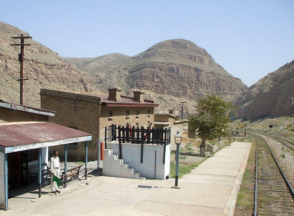 Dozan Railway Station, Baluchistan, Pakistan.