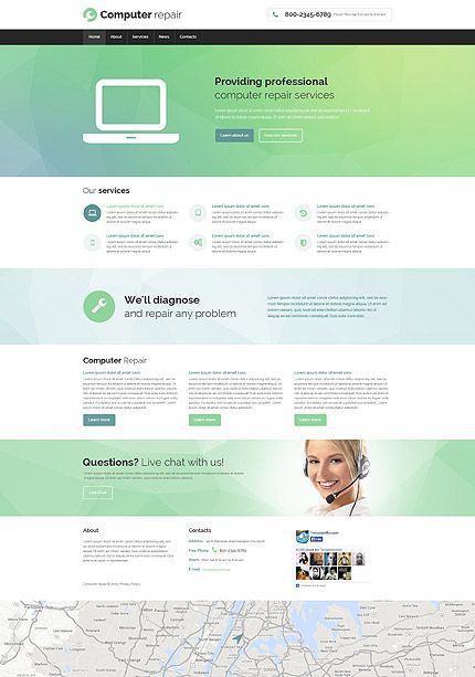Computer repair services website template themes business computer repair services website template themes business responsive flashek Choice Image