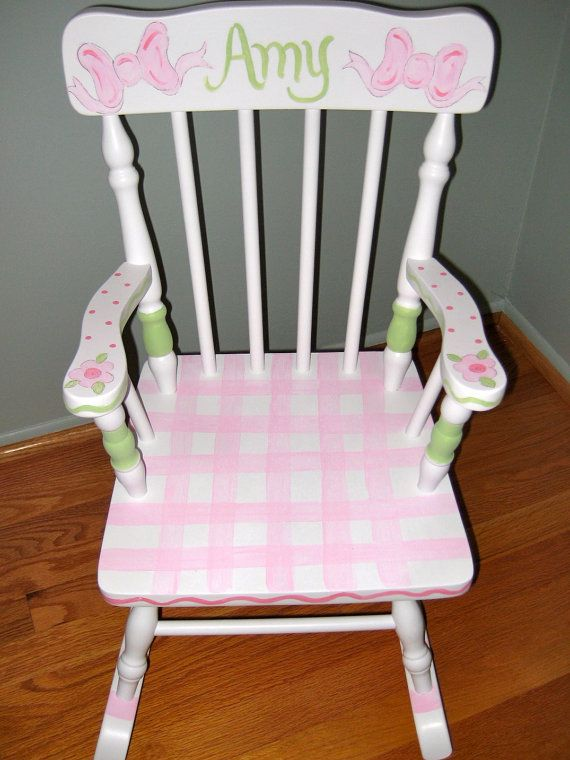 Fine Children Personalized And Hand Painted Rocking Chair Bralicious Painted Fabric Chair Ideas Braliciousco