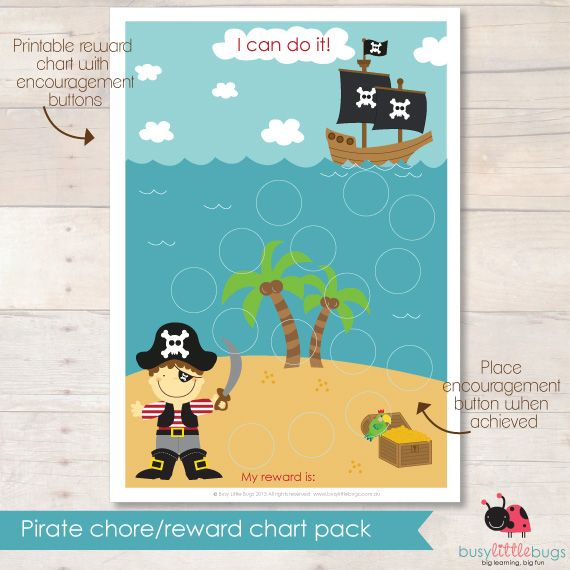 Pirate chore chart 3 Me Pinterest Chart, Parents and Kids - free reward charts to download