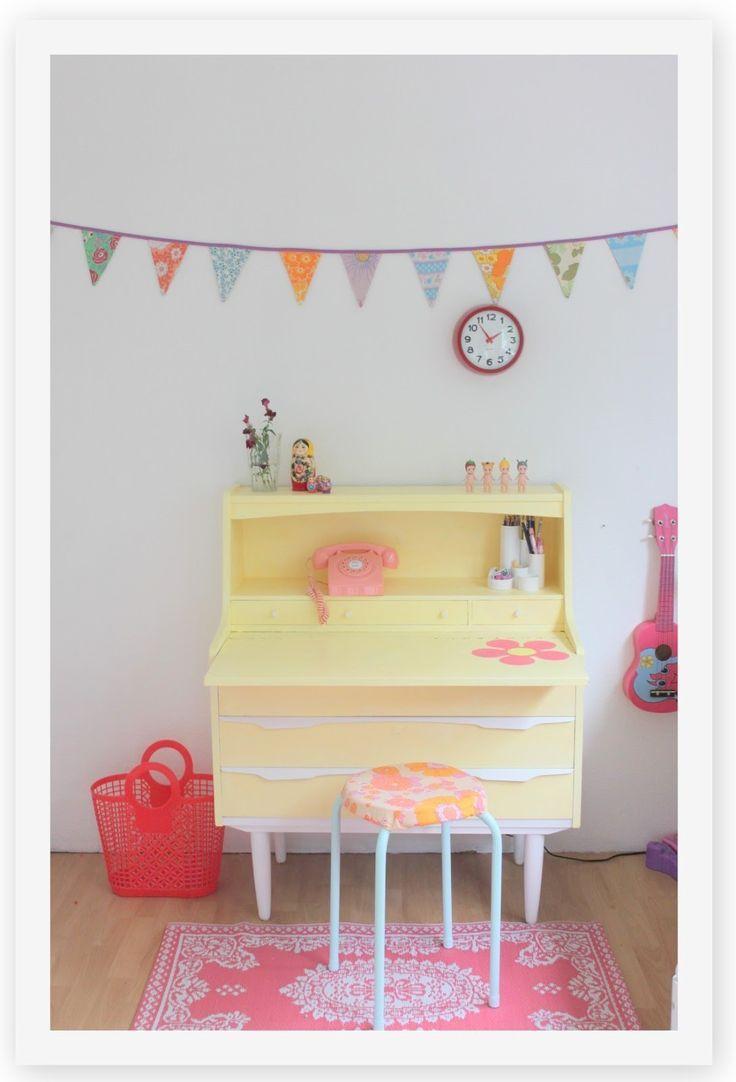 colourful kids room desk