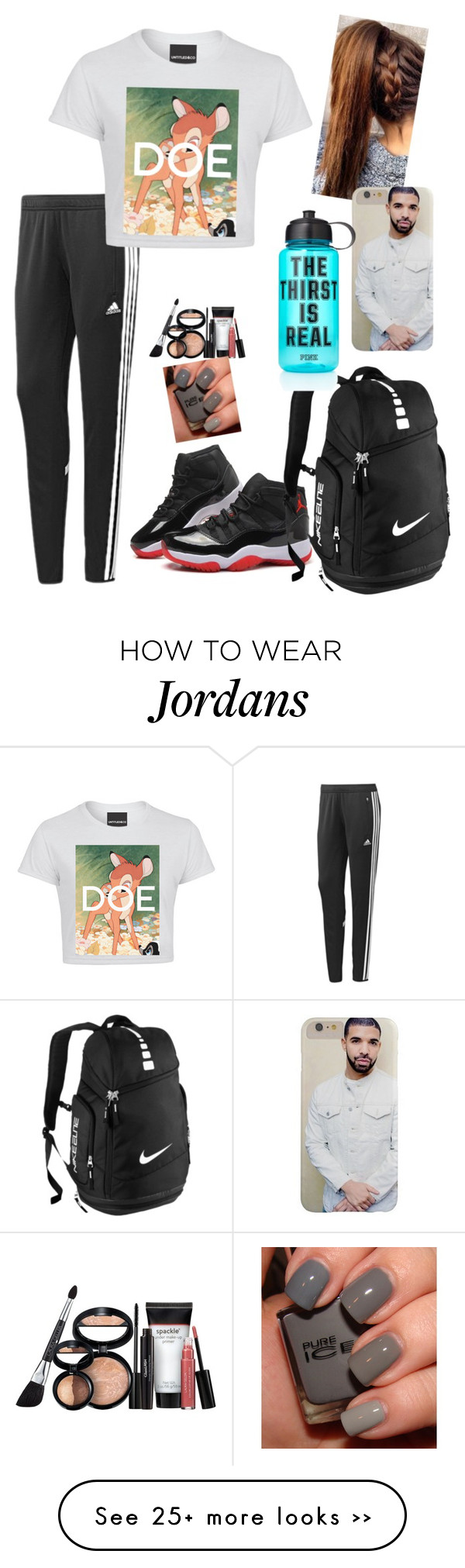 """""""OOTD 9/15/15"""" by kirstinv1226 on Polyvore featuring adidas, NIKE, Victoria's Secret PINK and Laura Geller"""