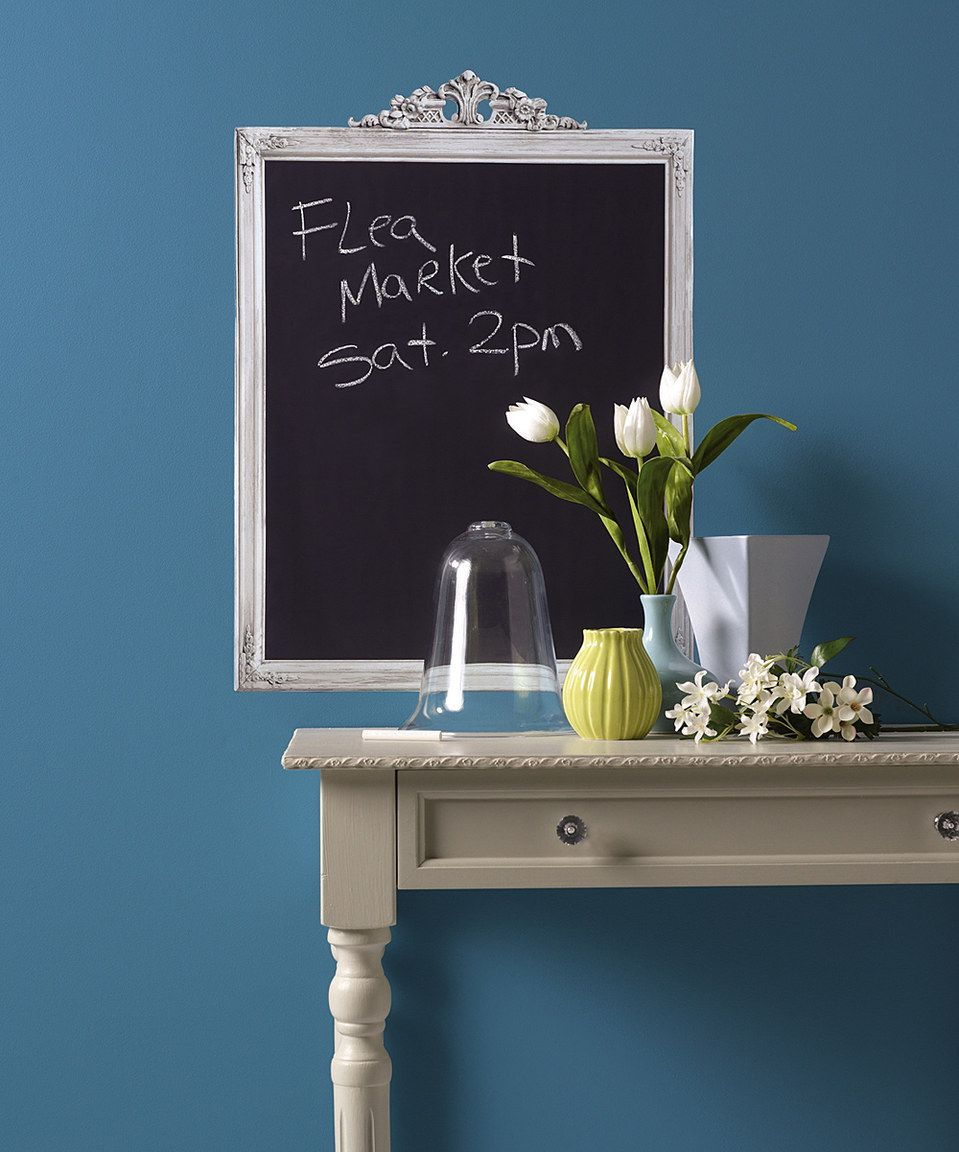 $15/Look what I found on #zulily! Framed Chalkboard Wall Decal by ...