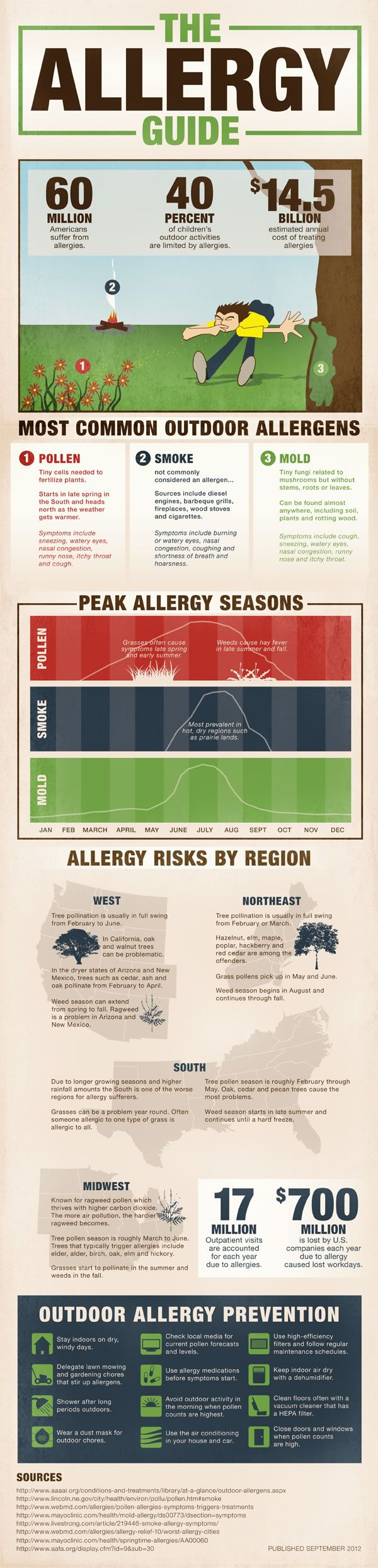 Air Pollution and Allergies in the USA [Infographic