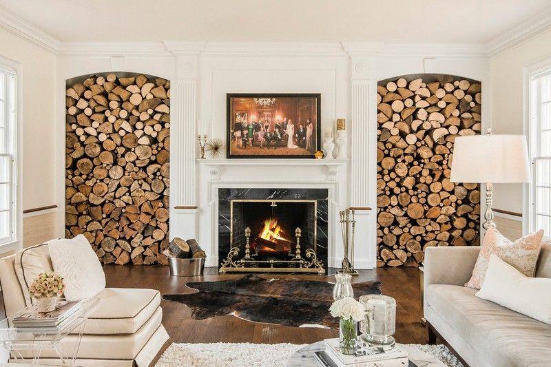 Brennholz-lagern-Funkenschutz-Ideen-Wohnzimmer-gestalten Wohnideen