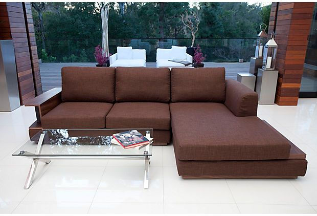 Pangea Eve Right Arm Sectional Chocolate Love The