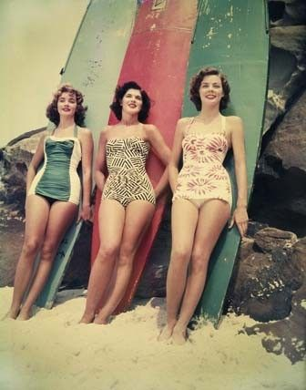 fabulous surfer girls. Love their suits