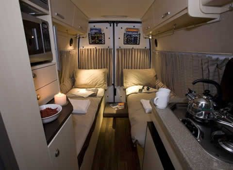 Two Single Beds In A Van Conversion Pinterest
