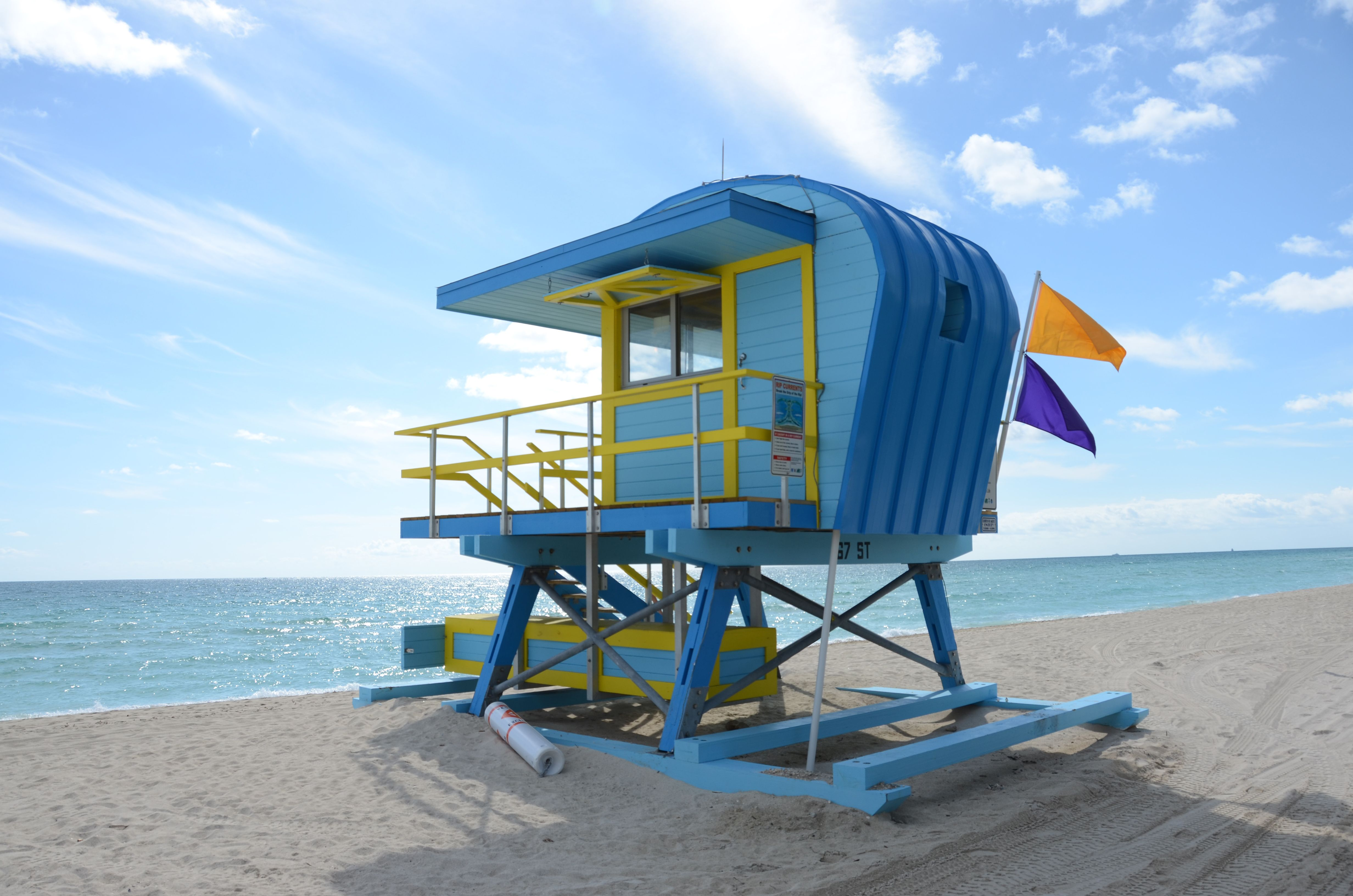 William Lane Lifeguard Stand on Miami Beach at 67th St