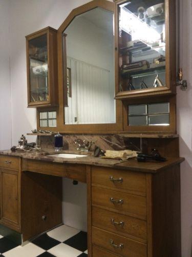 Gut erhalten Friseur Einrichtung antik Barbier Barber Shop Art Deco ...