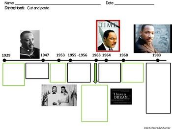 Martin Luther King Jr Timeline And Activities Timelines