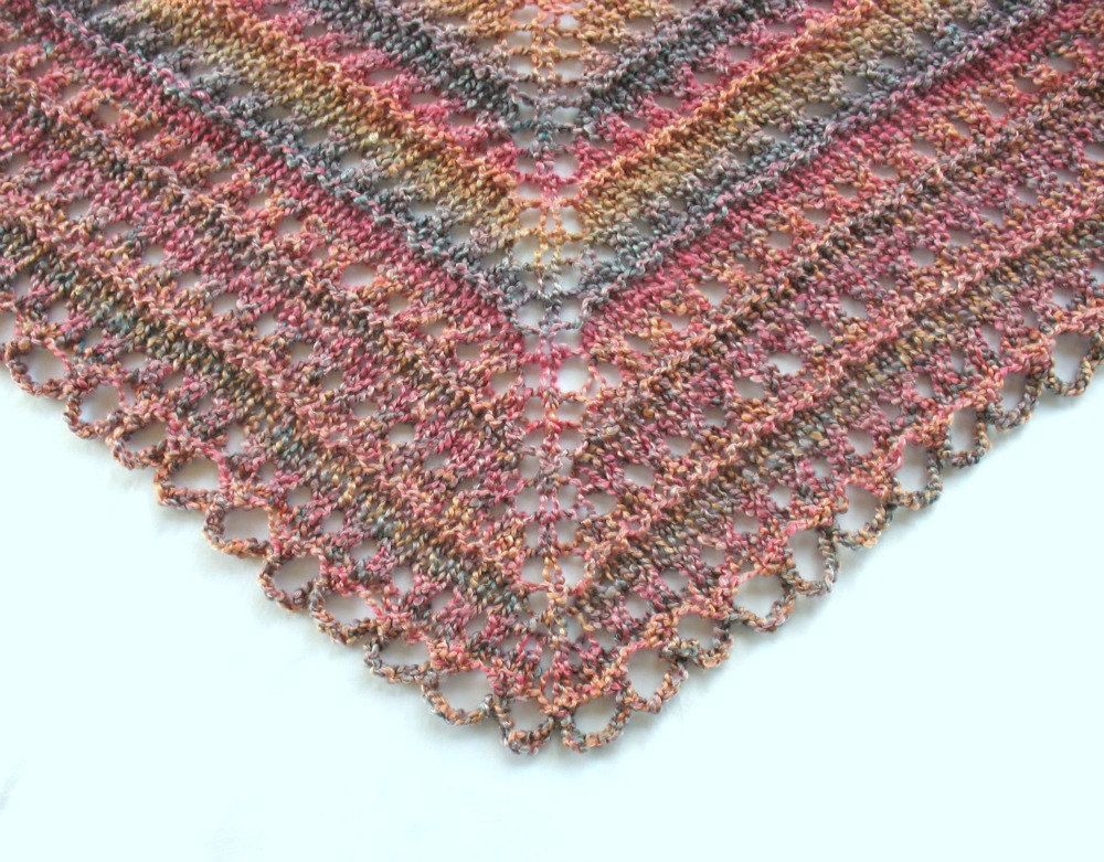 Easy Knitting Shawl Pattern // Easy Knit Shawl - Designs by KN ...