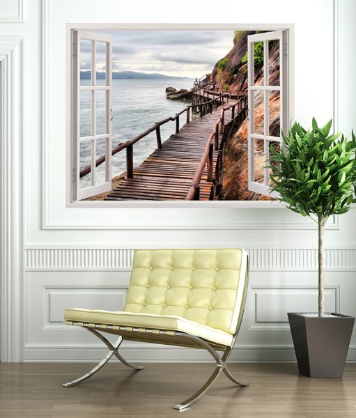 Pasarela De Mar Vinilos Decorativos Photo Wall Design Bedroom Wall Art Wall Stickers
