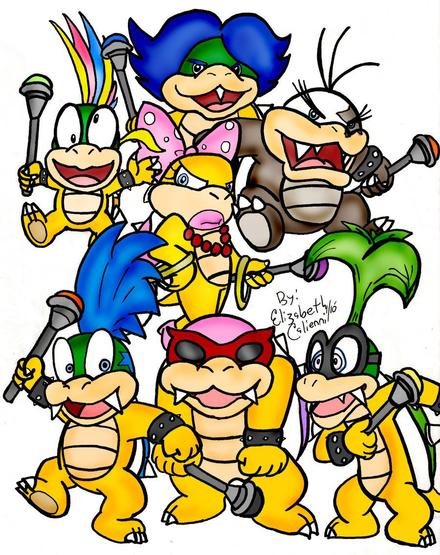 Mario The 7 Koopalings By Lizdraws Deviantart Com On Deviantart