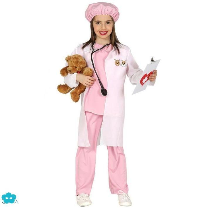 eb6e44c59 Disfraz de veterinaria rosa para niña | Disfraces de profesiones ...