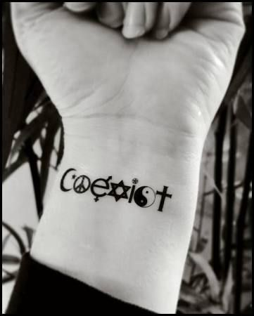 Coexist Tattoo Adapt Peace Tattoos Coexist Tattoo Tattoos