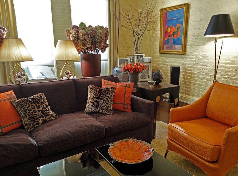 Marcy V Masterson Inc Tribeca Living Room Contemporary Living Room Design Tribeca Living Living Dining Room #orange #and #brown #living #room #decor