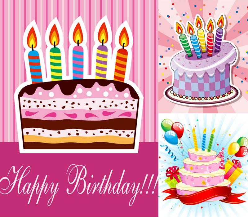 3 Birthday Cake Poster Vector Material Cumpleaos Pinterest