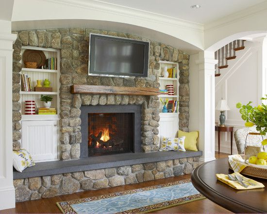 just an idea of what the rounded river rock looks like - Fireplace Design, Pictures, Remodel, Decor and Ideas - page 186
