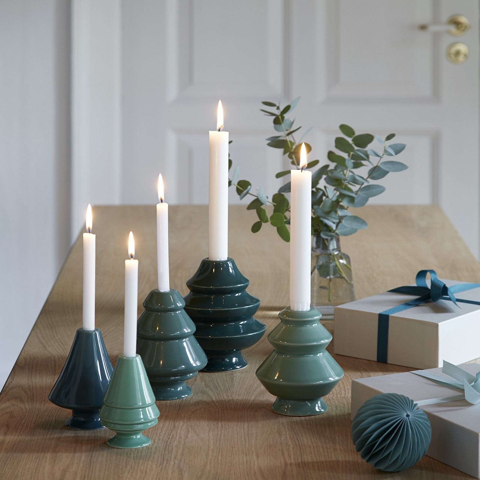 Avvento Candleholder Green Medium