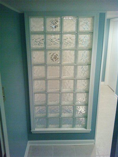 A Basement Bathroom Idea Glass Block Wall To Make Bathroom Look
