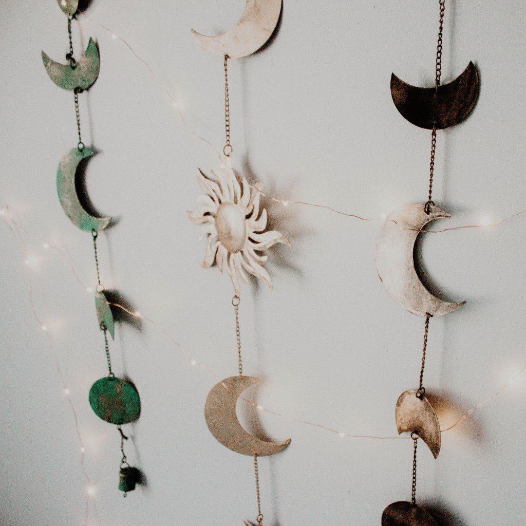 Celestial Wall Hanging Moon Decor Stars Wall Decor Hanging Wall Decor