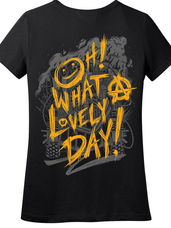 Mad max shirt fury road shirt oh what a lovely day nux shirt hand screen printed available in plus sizes