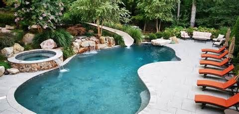 Image Detail For Pool With Waterfall Planters Kidney Shaped Pool Small Pool Design Building A Swimming Pool