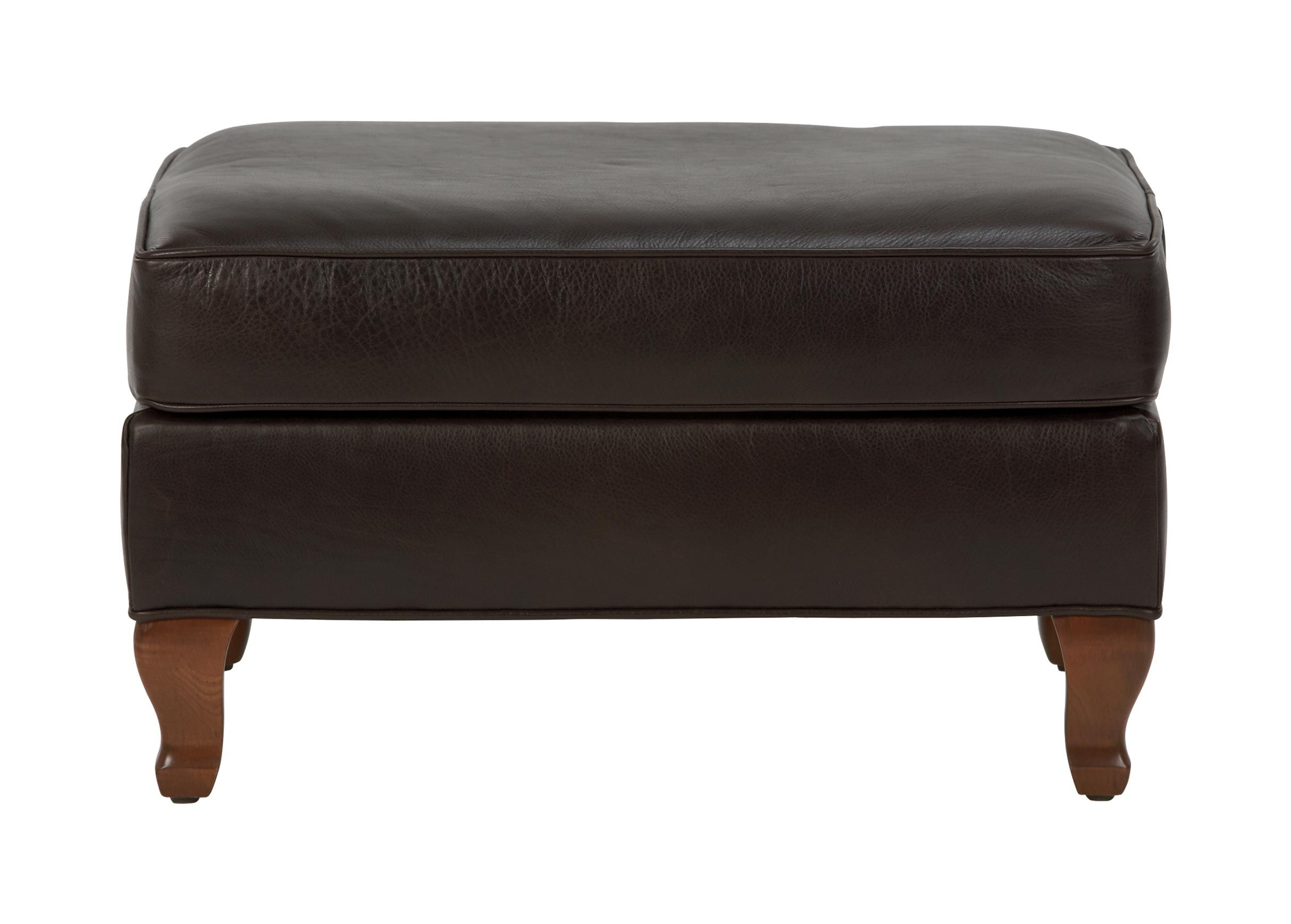 Avery Leather Ottoman - Ottomans & Benches - Ethan Allen