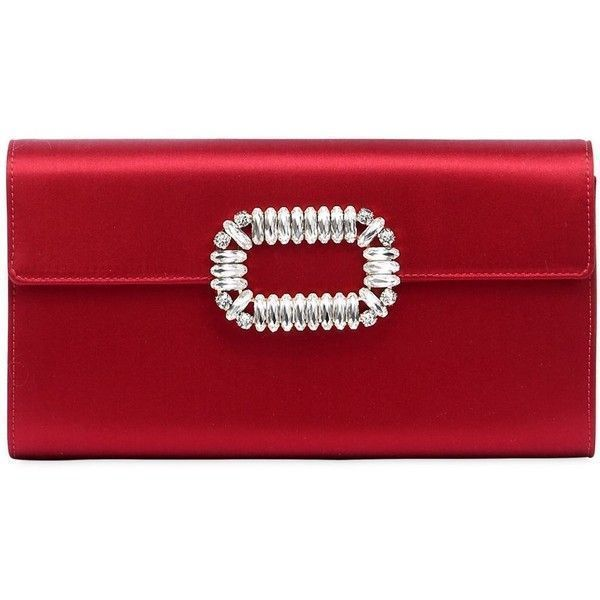 Roger Vivier Women Silk Satin Envelope Clutch (91.980 RUB) ❤ liked on  Polyvore featuring 00943879ae384