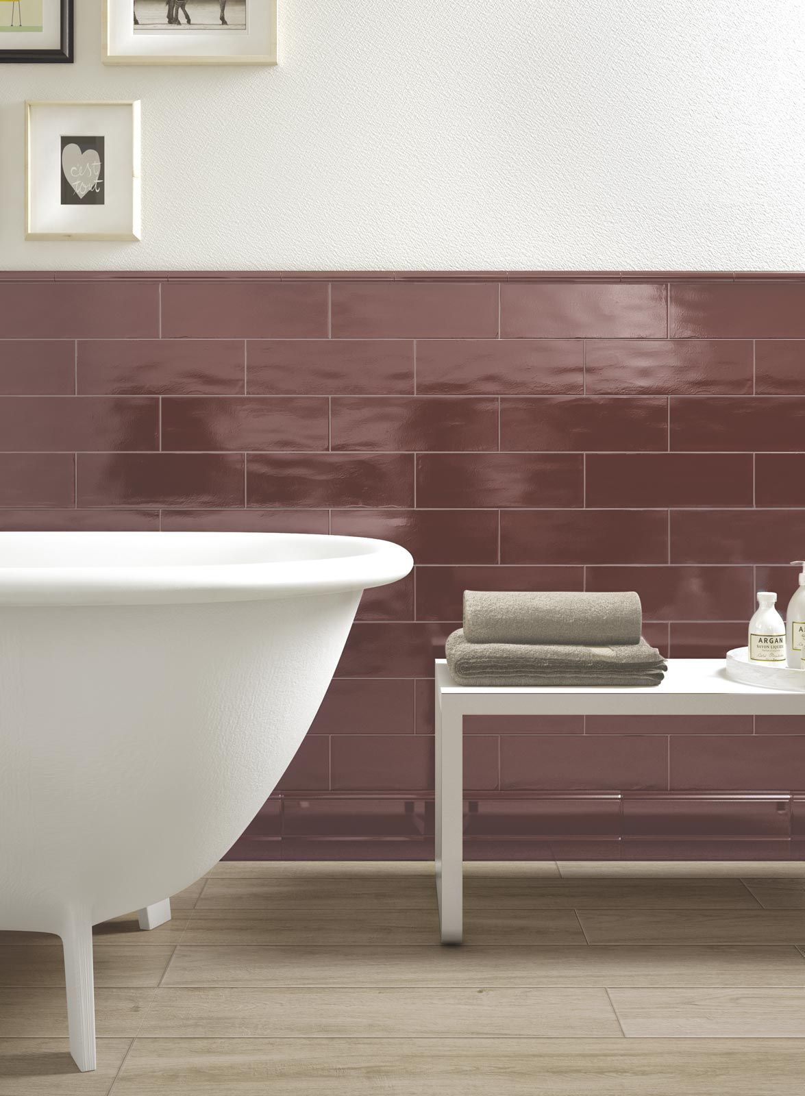 Tiling Walls in Brick Tile Pattern is Easy with the New Glossy Brick by Ragno - #Brick #easy #glossy #pattern #Ragno #Tile #Tiling #walls