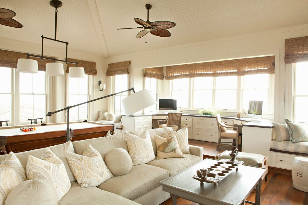 Decorating with burlap home theater tropical home renovations with ...