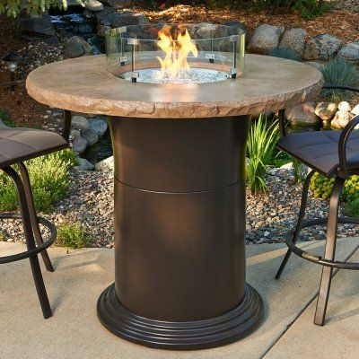 Colonial Bar Height Fire Pit Table With Free Burner Cover And Optional Gl Guard Fsh186 1